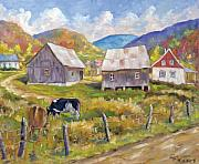 Poppies Artwork Paintings - Charlevoix North by Richard T Pranke