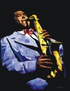 Saxophonists Framed Prints - Charlie Parker Framed Print by Walter Neal