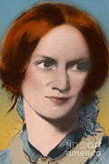 Charlotte Metal Prints - Charlotte Bronte, English Author Metal Print by Science Source