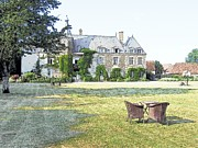 Europe Drawings - Chateau De Saint Paterne Normandy France by Joseph Hendrix