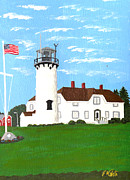 Chatham Framed Prints - Chatham Lighthouse Painting Framed Print by Frederic Kohli