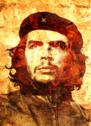 Unique Art Digital Art Framed Prints - Che Guevara Framed Print by Juan Jose Espinoza