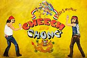 Chicano Framed Prints - Cheech and Chong  Framed Print by Christopher  Chouinard