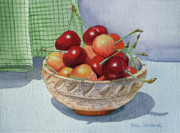 Ceramics Framed Prints - Cherries Framed Print by Irina Sztukowski