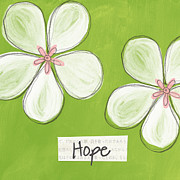 Pink Blossoms Posters - Cherry Blossom Hope Poster by Linda Woods