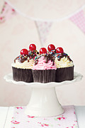 Maraschino Prints - Cherry cupcakes Print by Ruth Black