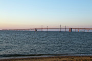 Sandy Point Park Framed Prints - Chesapeake Bay Bridge - Maryland Framed Print by Brendan Reals