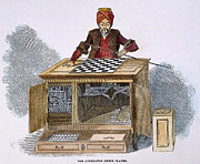 Turban Framed Prints - Chess: Automaton, 1845 Framed Print by Granger