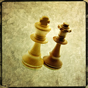 Chess Posters - Chess pieces Poster by Bernard Jaubert