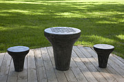 Park Benches Photos - Chess Table at a Park by Jaak Nilson