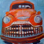 Chevy Pastels Prints - Chevy Truck Print by Barbara Richert