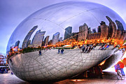 Chicago Bean Print by Mark Currier