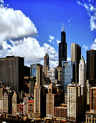 Michigan Avenue Prints - Chicago Buildings Print by Julie Palencia