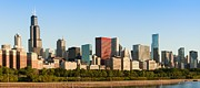 Chicago Skyline Art - Chicago Downtown at Sunrise by Semmick Photo