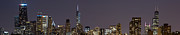 Sky Line Art - Chicago Lights by Twenty Two North Photography
