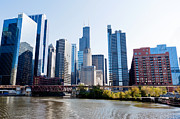 Merchandise Photos - Chicago River Skyline with Sears-Willis Tower by Paul Velgos