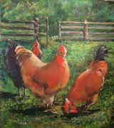 Chicken Pastels - Chick Chick Chicken by Paula Wild