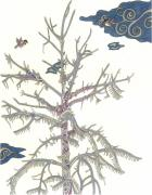 Winter Storm Mixed Media - Chickadee Ice Tree by Courtney Trimble