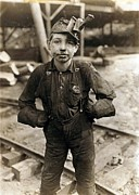 West Virginia History Framed Prints - Child Laborer Portrayed By Lewis Hine Framed Print by Everett