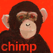 Chimpanzee Art - Chimpanzee by Laurie Breen