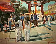 Streetscape Paintings - Chinatown by Brian Simons
