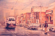 Purple Originals - Chinatown Streetcar Toronto by Merv Scoble
