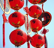 Holiday Decoration Prints - Chinese New Year Decorations Print by Yali Shi
