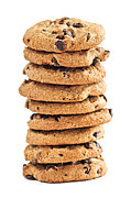 Stacked Prints - Chocolate chip cookies Print by Elena Elisseeva
