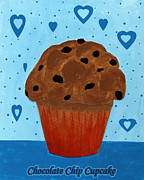 Chocolate Chip Cupcake Print by Barbara Griffin