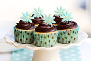 Sweet Spot Prints - Chocolate cupcakes Print by Ruth Black