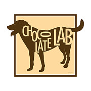 Labrador Retriever Posters - Chocolate Lab Poster by Geoff Strehlow
