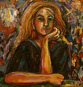 Singer Paintings - Choir Girl by Yulonda Rios