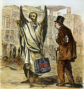 Landlord Posters - Cholera In Slums, 1866 Poster by Granger
