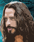 Soundgarden Posters - Chris Cornell Poster by Monica Moody