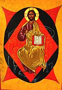 Byzantine Painting Originals - Christ in Majesty by Joseph Malham