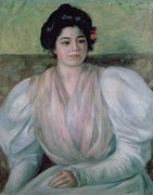 Dark   Hair Framed Prints - Christine Lerolle Framed Print by Pierre Auguste Renoir