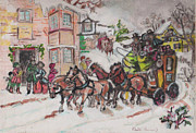 Christmas Buggy Print by David Garren