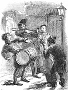 Trombone Art - Christmas Carolers, 1847 by Granger