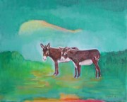 Donkey Originals - Christmas Donkeys by Denise Sarjant