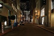 Christmas Eve 2009 On Maiden Lane In San Francisco Print by Wingsdomain Art and Photography