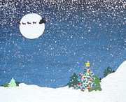 Decorating Mixed Media - Christmas eve by Paula Weber