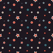 Christmas Stars Print by Design Windmill