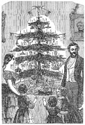Father Christmas Prints - Christmas Tree, 1864 Print by Granger