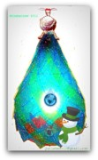 Happy Sculpture Prints - Christmas tree bulb Elpyul for garden decoration Print by Yuri Shevnin