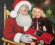 Santa Paintings - Christmas Wish by Joni McPherson
