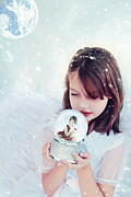 Snow Globe Posters - Christmas Wish Poster by Stephanie Frey