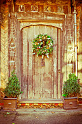 Medieval Entrance Posters - Christmas wreath Poster by Tom Gowanlock