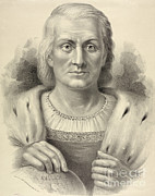 Us History Posters - Christopher Columbus, Italian Explorer Poster by Photo Researchers