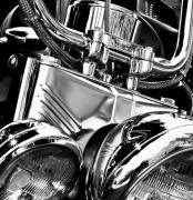 Motorcycle Posters - Chromed Poster by Richard George