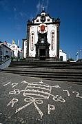 Church In The Azores Print by Gaspar Avila
